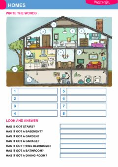 THE HOUSE worksheet preview