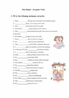 Past Simple Tense - Worksheet worksheet preview