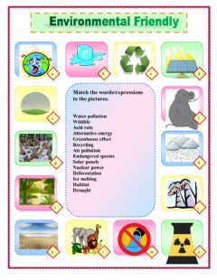 Interactive worksheet Environmental friendly