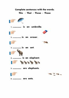 Demonstratives worksheet preview
