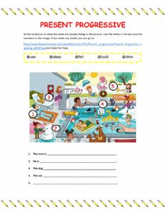 Interactive worksheet Presnt Progressive Writing