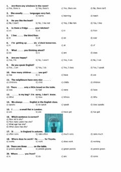 Interactive worksheet Beginners multiple choice test - 3