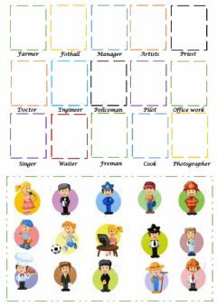 Interactive worksheet Profesiones y ocupaciones