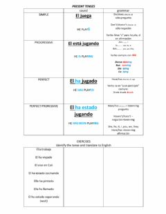 Interactive worksheet PRESENT