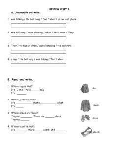 Interactive worksheet review unit 1