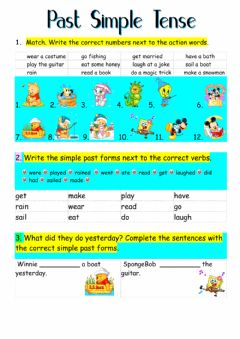 Ficha interactiva Past Simple Tense