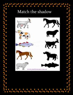 Interactive worksheet match the shadow