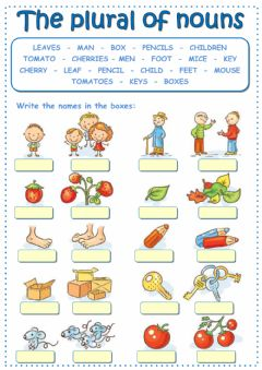 Interactive worksheet The plural of nouns