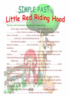 Interactive worksheet Little Red Riding Hood - Past Simple