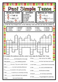 Past Simple Tense worksheet preview
