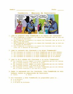 Interactive worksheet Condorito - Máscara de Cenicienta