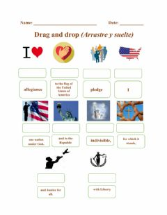 Interactive worksheet The Pledge Of Allegiance - Drag and Drop