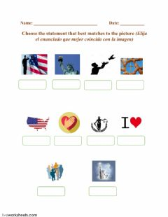 Interactive worksheet The Pledge Of Allegiance - Drop down