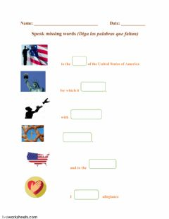 Interactive worksheet The Pledge Of Allegiance - Speak