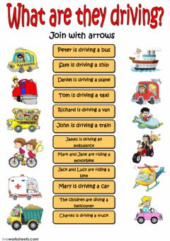 Interactive worksheet What are they driving?