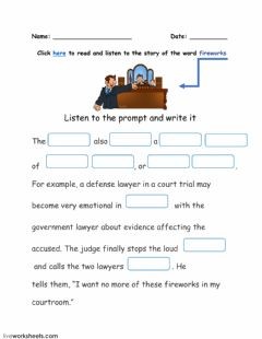 Interactive worksheet Word FIREWORKS and its story-3