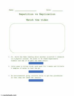 Interactive worksheet Repetition vs Replication