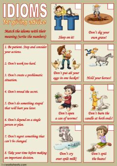 Ficha interactiva Idioms for giving advice 1