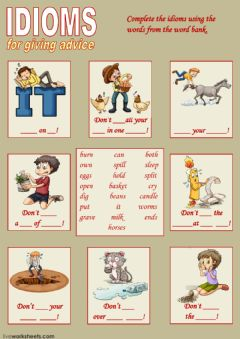 Ficha interactiva Idioms for giving advice 2