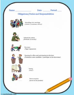 Interactive worksheet Obligations and Responsibilities-2