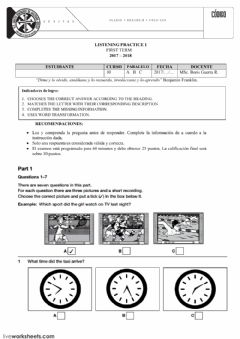 Interactive worksheet LISTENING PRACTICE 1