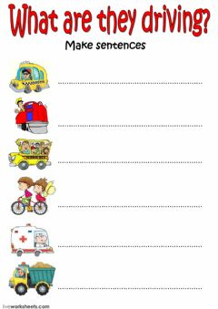 What are they driving? worksheet preview