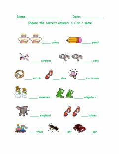 Interactive worksheet Indefinite Article-4