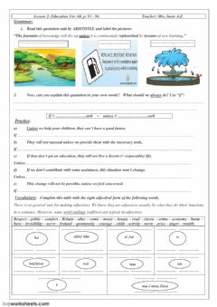 Interactive worksheet Unit 2 Lessons 2 - 3