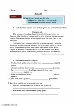 Interactive worksheet Aditza