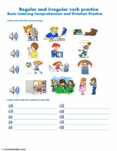 Interactive worksheet Listening and Writing Practice
