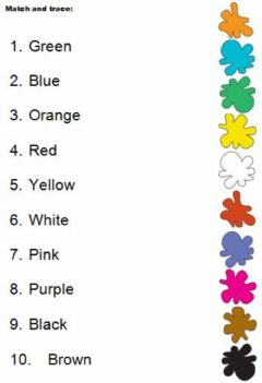Interactive worksheet Colours. Match.
