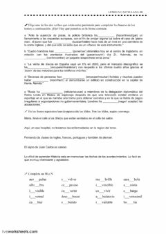 Interactive worksheet Ortografía 10