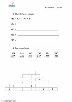 Interactive worksheet 1) Matematikak 2