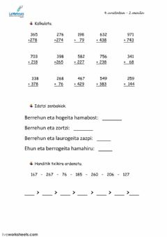 Interactive worksheet 3) Matematikak 2