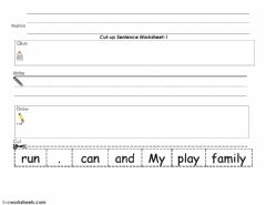 Interactive worksheet Sentence Cut and Paste