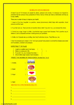 Interactive worksheet HEALTHY TIPS