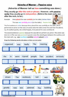 Ficha interactiva Adverbs of Manner (Passive)