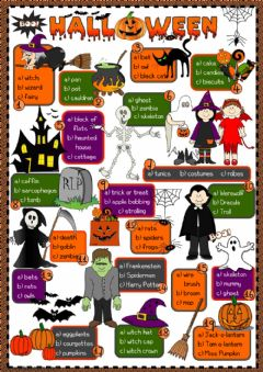 Ficha interactiva Halloween - vocabulary