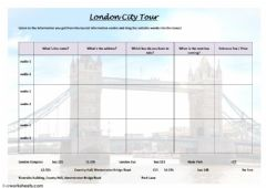 Interactive worksheet London City Tour