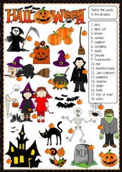 Ficha interactiva Halloween - matching