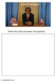 Interactive worksheet kid president