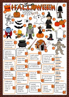 Halloween - definitions worksheet preview
