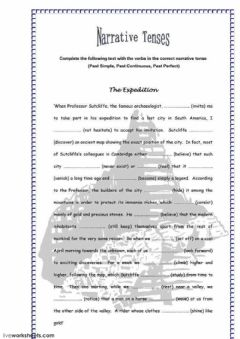Interactive worksheet The expedition