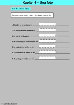 Interactive worksheet Kapitel 4 - uppgift 5 - åk 7