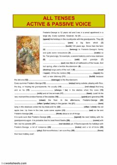 Interactive worksheet All tenses (active - passive voice)2