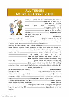 Interactive worksheet All tenses (active - passive voice)3