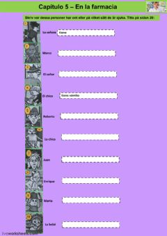 Interactive worksheet Kapitel 5 - uppgift 3 - åk 8