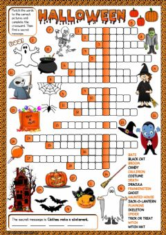 Interactive worksheet Halloween - crossword