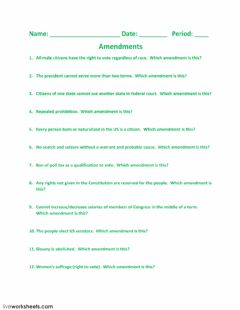 Interactive worksheet Amendments