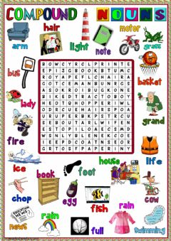 Interactive worksheet Compound nouns - wordsearch